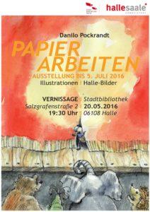 Vernissage PAPIERARBEITEN in der Stadtbibliothek Halle